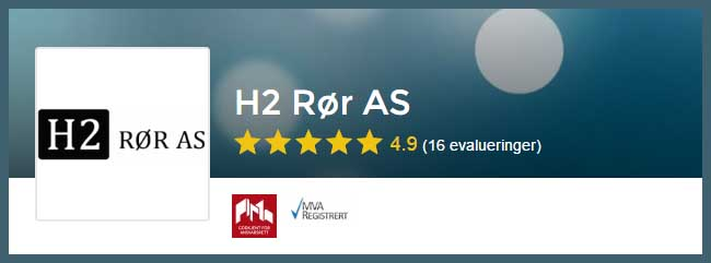 Rørlegger Stavanger, vi anbefaler H2 Rør AS