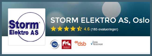 Elektriker Oslo, vi anbefaler Storm Elektro AS i Oslo