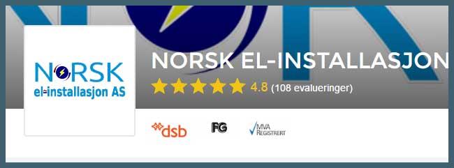 Elektriker Oslo, Norsk El-Installasjon er en av våre anbefalinger i Oslo