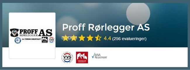 Rørlegger Oslo, vi anbefaler Proff Rørlegger AS