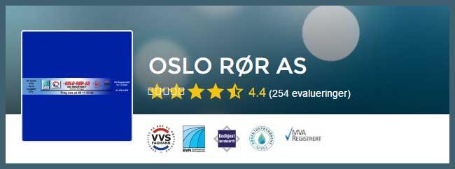 Rørlegger Oslo, vi anbefaler Oslo Rør AS